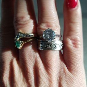Diamond♦️Sterling silver ring 925